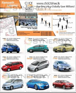 Sampath Leasing Options for all kind of cars - www.click2drive.lk