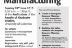 Seminar on ERP Systems in Manufacturing by University of Colombo