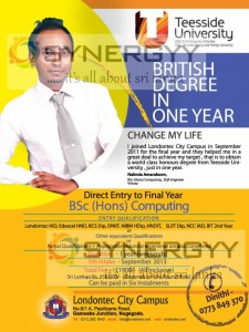 Teesside University degree in Sri Lanka