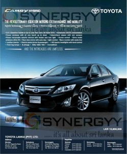 Toyota Camry Hybrid for Rs. 10,800,000.00 in Sri Lanka – June 2013