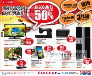Up to 50% Discount at Singer Sri Lanka