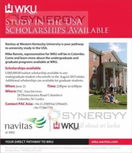 Western Kentucky University Study and Scholarships Options in Sri Lanka