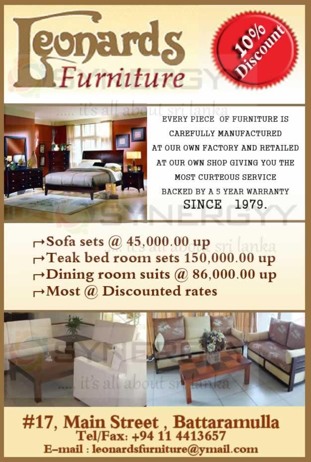 10% Discount From Leonards Furniture