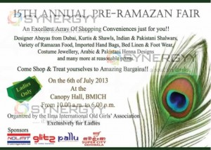 15th Annual Pre-Ramazan Fair