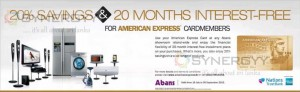 20% Savings & 20 Months Interest-Free For American Express Card members