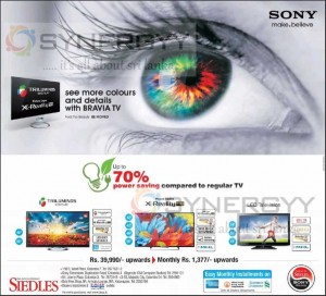 70% Power Saving for Sony TV