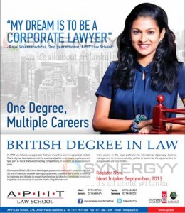 APIIT Law Degree Programme – September 2013 Intakes