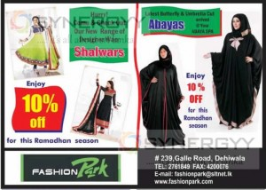 Abayas and Shalwars 10 % off for Ramadan Season