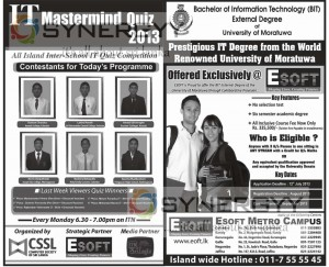 Bachelor of Information Technology (BIT) External Degree of University of Moratuwa