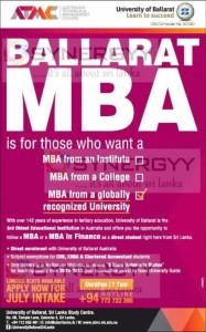 Ballarat MBA Programme Now in Sri Lanka
