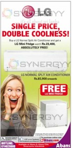 Buy Air Conditioner and Get Free LG Mini Fridge at Abans