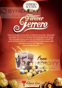Buy Ferrero Rocher Milkshakes and Get Free Ferrero Rocher T5 Pack – Valid till End July
