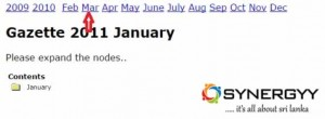 Click the Month of March of 2011