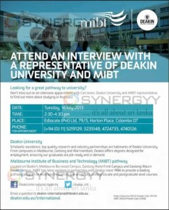 Deakin University Intakes Interview 16th July 2013