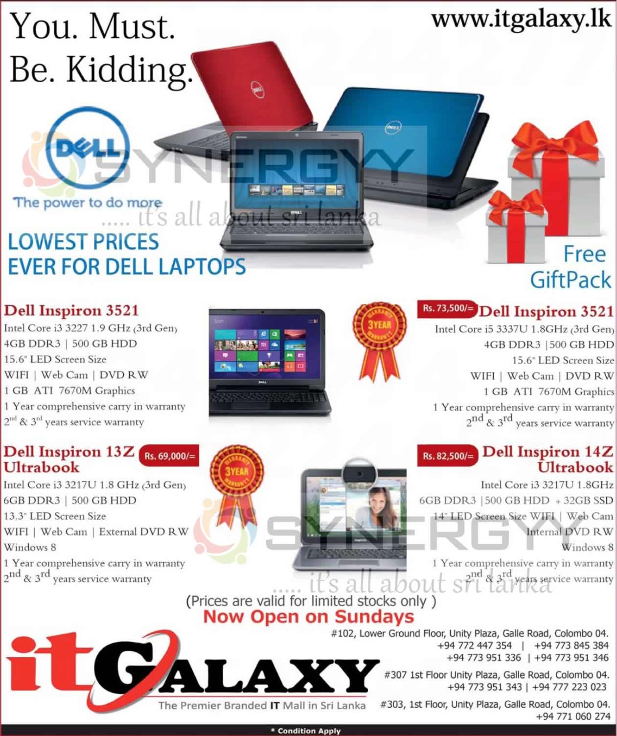 Dell Inspiron Laptop Price In Sri Lanka Price Starts From