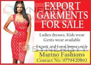 Export Garments for Sale in Sri Lanka