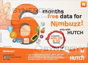 FREE Data Package for Nimbuzz in Sri Lanka from HUTCH – Till 15th December 2013