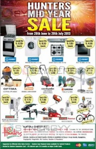 Hunters Midyear Sale from 26th June to 20th July 2013