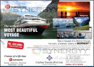 Hurtigruten voyage Cruises Experience in this summer for Rs. 325,000.00 (5days Full board)