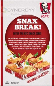 KFC Snax Break for Rs. 200.00 in KFC Sri Lanka