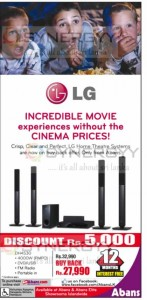 LG Home Theatre Systems for Rs. 27,990.00 (Rs. 5,000.00 for Buy Back offer)