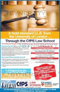 LLB Degree Programme with CFPS Law School
