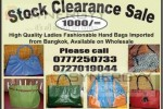 Ladies Handbag Stock Clearance Sale