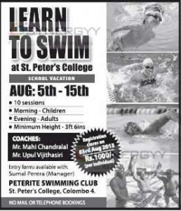 Learn Swimming in School Vacation