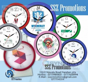 Logo Printed Wall clock in Sri Lanka