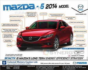 Mazda -6 Now Available for USD 25,000.00 for Permit Holders in Sri Lanka
