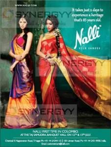 Nalli Silk Sarees Sale in Colombo on 12th & 13th July at Taj Hotel
