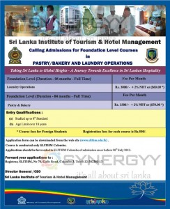 Pastry/Bakery and Laundry Operations Foundation Level Courses from Sri Lanka Institute of Tourism & Hotel Management