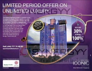 Pay 30% & Book ICONIC Apartment now