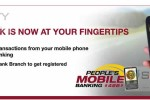 People's Bank Mobile Banking Facility available now