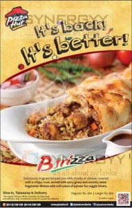 Pizza Birizza Back with Much taster Now for Rs. 260.00 upwards