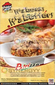 Pizza Hut Introduce Birizaa for Rs. 260.00 upwards