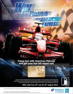 Pump fuel with American Express Credit card and get your fuel bill wiped out till 31st August 2013