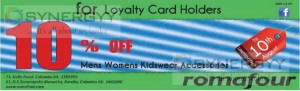 Romafour 10% off for Loyalty Card Holders till 10th August 2013