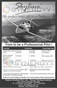 Skyline Professional Pilot Programme New Enrolment in Sri Lanka