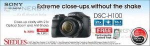 Sony DSC – H100 for Rs. 39,990.00 from Siedles