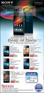 Sony Xperia Prices in Sri Lanka from Siedles– June 2013