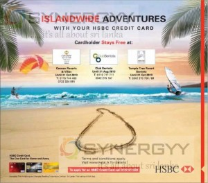 Special Adventures offers for HSBC Credit card – till October 31st, 2013