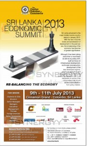 Sri Lanka Economic Summit 2013 in Colombo on 9th to 11th July 2013