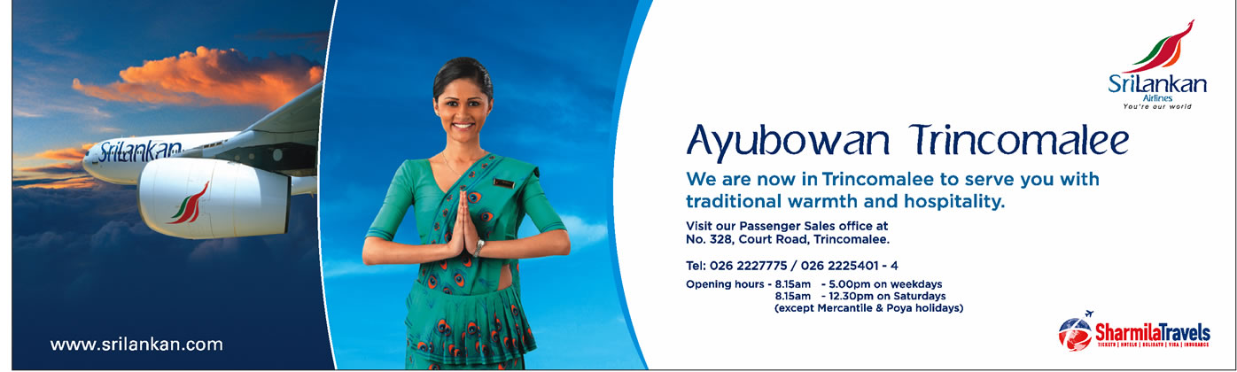 Sri Lankan Airlines Now In Trincomalee 171 Synergyy