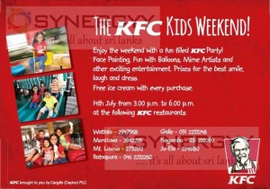 The KFC Kids Weekend on 14th July 2013