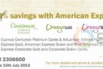 Up to 30% off for American Express Credits at Cinnamon Hotels & Resorts till 15th July 2013