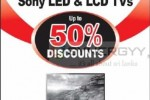 Upto 50% Sale for Sony LED & LCD TVs on 13th July 2013