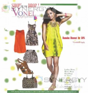 20% Discount from VONEL