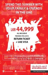 Air Arabia Summer Tour to UAE for Rs. 44,999.00