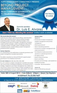 Beyond Project Management From Corporate Governance to Project Management by Dr. Luis E. Alvarez